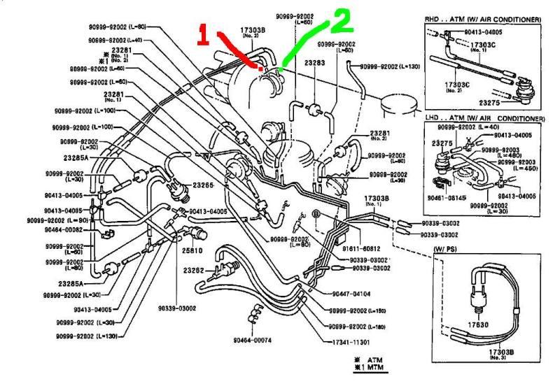 diagrama vacio toyota tercel,aire acondicionado