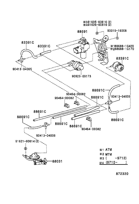 Vacuum Diagram Toyota Tercel 2e 13cc Carburado