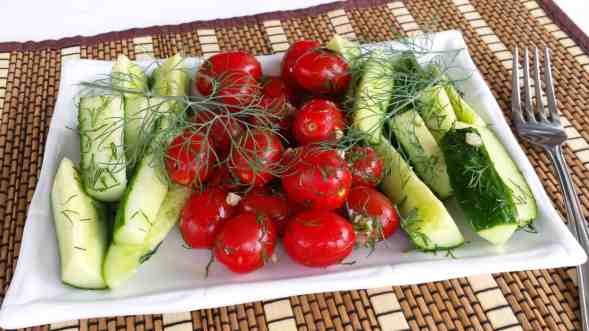 Easy Cucumber and Tomato Salad