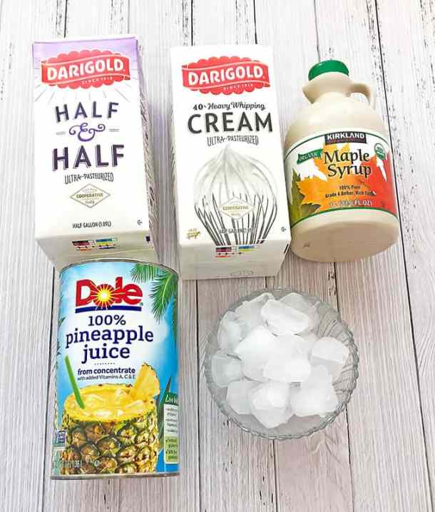 Pina Colada Smoothie is one of the most popular tropical drinks for a very good reason: the perfect creamy mix blended out of pineapple juice. There are many types of Pina Colada recipes, but I make mine simple. If you like the coconut flavor in yours, you may add coconut cream or milk instead of half & half. Just throw all the ingredients into the blender and the rest is done for you. It melts quickly so make sure to serve it right away.