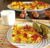 Potatoes-Bacon-Eggs Breakfast Omlet