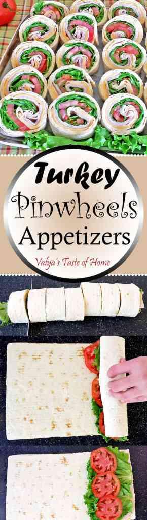 Turkey Pinwheels Appetizers