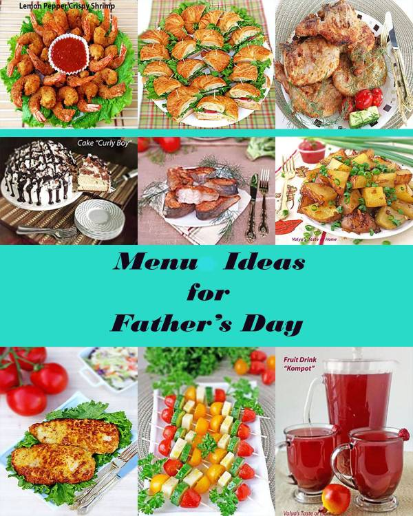 Menu Ideas for Father's Day