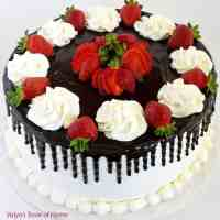 Honey Chocolate and Strawberry Cake