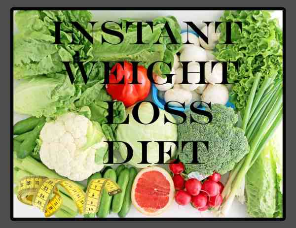 Instant Weight Loss Diet - Part I + Giveaway