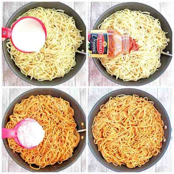 Easy Cheesy Marinara Pasta Recipe