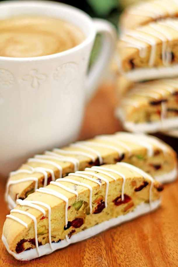 bake with kids, Biscotti Recipe, biscottis, chocolate cookies, Christmas baking, cookies, decor cookies, holiday baking, Holiday dessert, kids approved, perfect with coffee, pistachio nuts, tea dessert, White Chocolate Cranberry Pistachio Biscotti Recipe