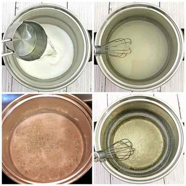 beautiful, cooked glaze, delicious, Easy Glossy Kulich Glaze Recipe (Cooked Method), glossy, Kulich glaze, sugar and gelatin glaze, tasty Easter bread glaze