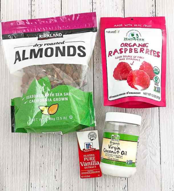 These No Bake Raspberry Almond Coconut Bites will satisfy anyone's sweet tooth! They are chewy, tasty and loaded with nuts and frozen raspberries that just blends so well together. They are a quicker and healthier granola bar. I cannot express how much they've helped sustain me during those time. I love these! I really recommend you give it a try if you're frequently on the go! You will fall in love with these bites from the first one you pop in your mouth.