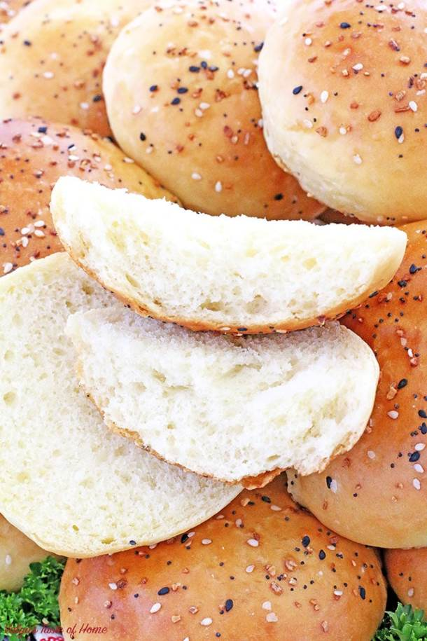 This Pillow Soft Burger Buns Recipe is the only recipe you'll ever need. These homemade buns are pillow-like soft, tender, rich, so flavorful and perfect for a big juicy burger! Your mixer will do most of the work for. Then all it takes is to shape and bake! You will surprise your family on a burger night, or your guest at your next backyard get-together how tasty they are!