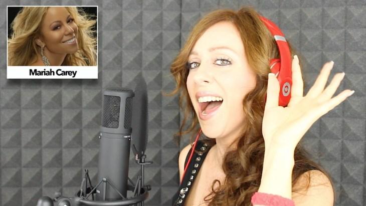 valy elle valeria caponnetto delleani imita le voci di 20 cantanti diversi nel video one girl 20 voices