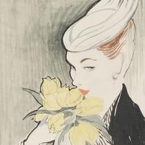 Sigrid Hunt, colour design, Britain, 1954. Museum no. E.685-1986