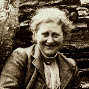 Detail from photograph of Beatrix Potter with her dog Kep at Hill Top © Frederick Warne