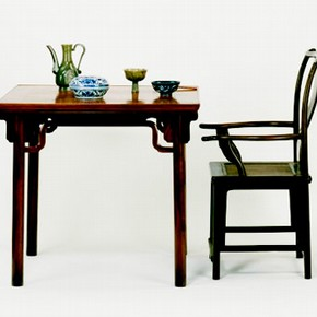Table and chair, 1550-1640. Museum nos. FE.67-1983, FE.27-1983, FE.41990, C.128-1928, FE.71-1977, C.127-1928