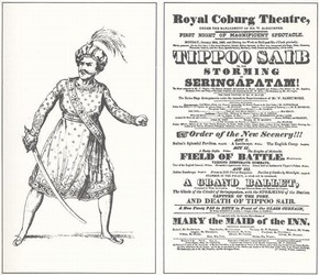 Theatrical print, 1823. Theatre Collection