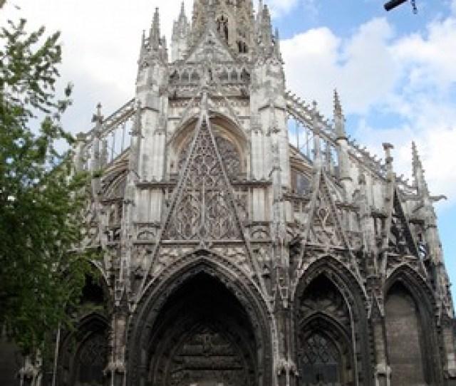 West Facade Of The Church Of Saint Maclou Rouen France Begun