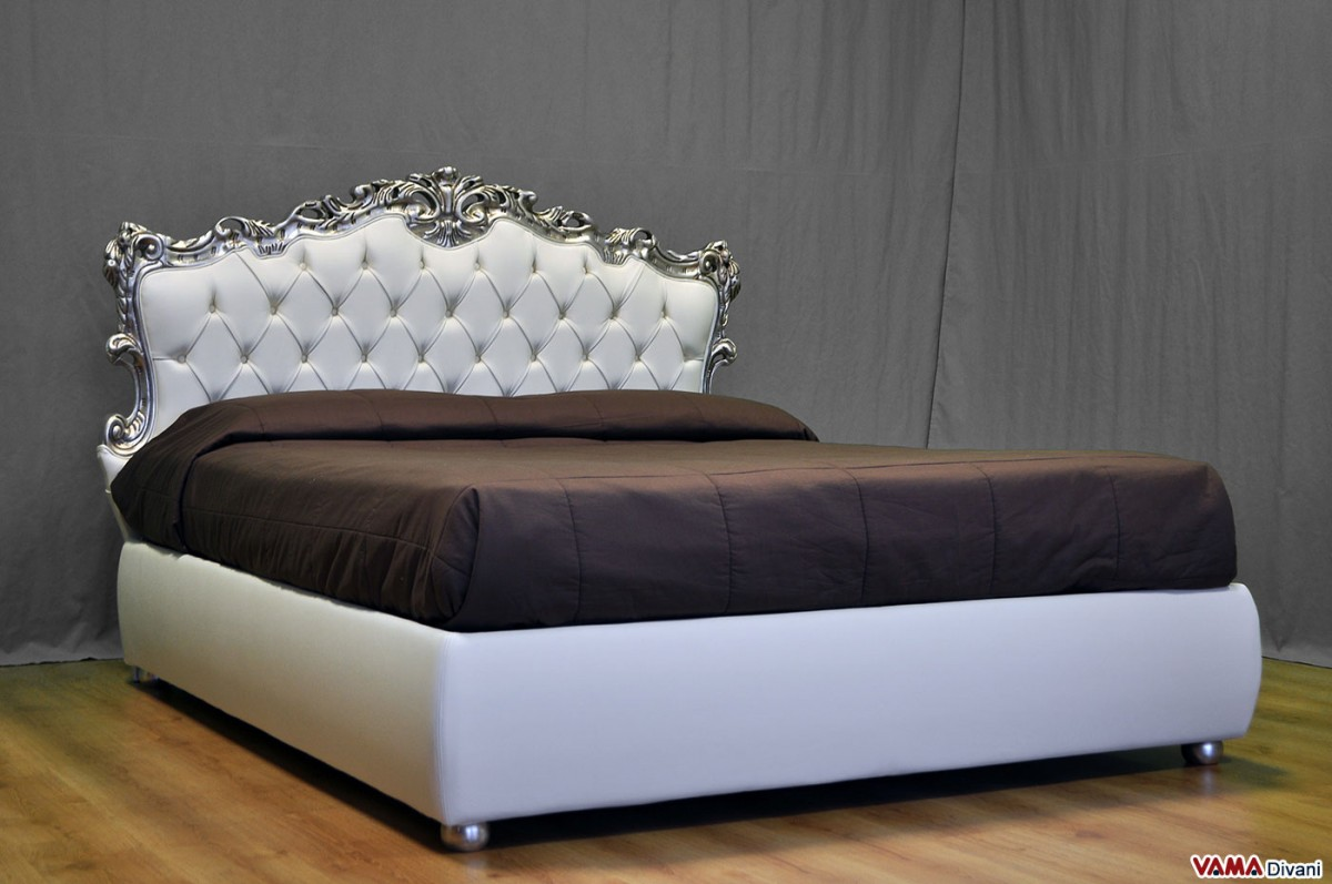 white leather chesterfield corner sofa next finnley bed review baroque with buttoned headboard and storage box