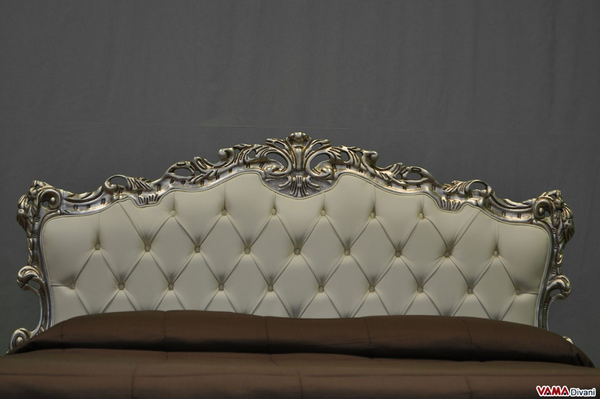baroque sofa bed antique table marble top with buttoned headboard and storage box