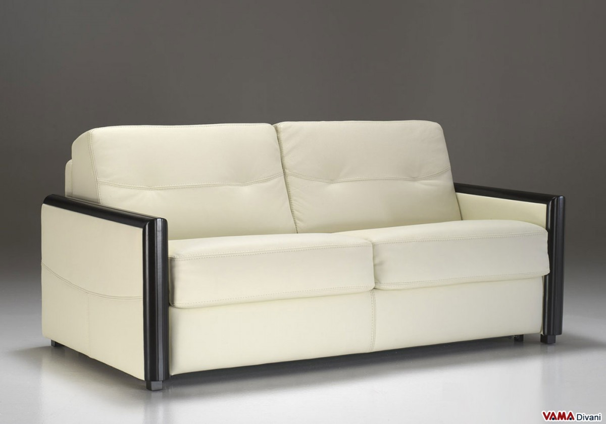 contemporary leather sofa bed with chaise and storage without arms to save space zoom