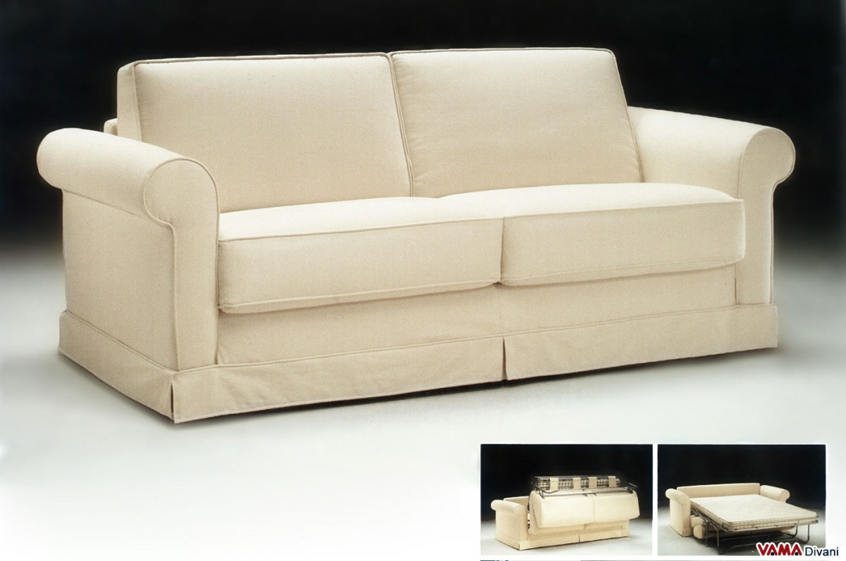 traditional sofa bed folding fabric double characterised by a style