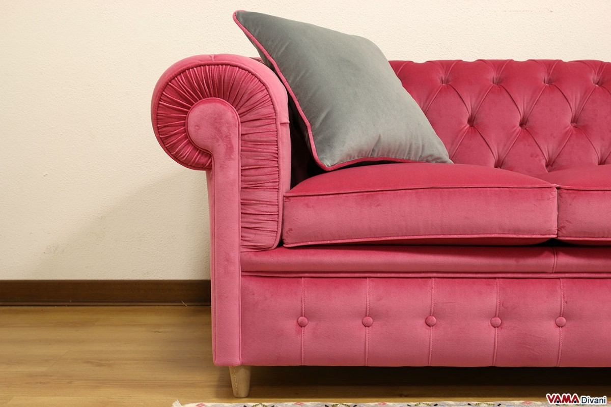 pink velvet sofa cover walmart slipcovers for sofas chesterfield 3 seater price and dimensions
