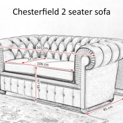 2 Seater Sofa Bed Size Tan Living Room Ideas Chesterfield Price Upholstery And Dimensions