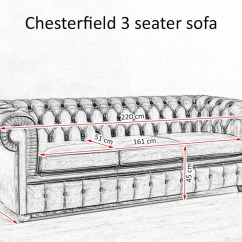 Length Of 2 Seater Sofa Modern Set Designs Images Chesterfield With Vintage Brass Plated Studs