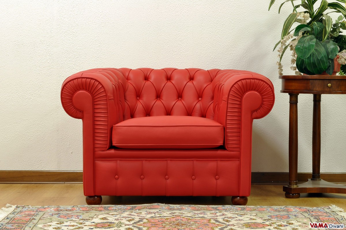 Chesterfield armchair  Price Size  Upholstery