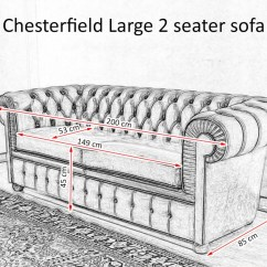 2 Seater Sofa Bed Size Latest Wooden Models Chesterfield Maxi Two Large Cushions