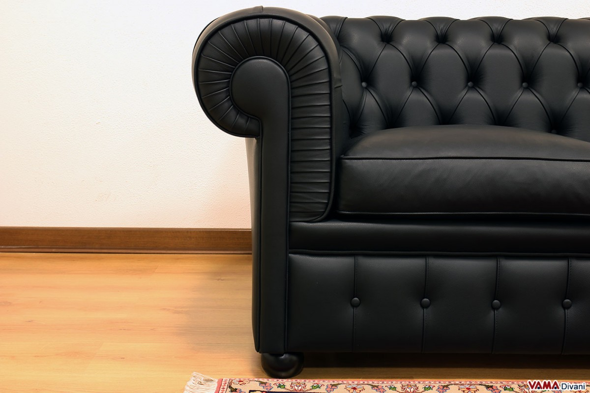 faux leather chesterfield sofa buchanan sleeper reviews 3 seater | price and dimensions