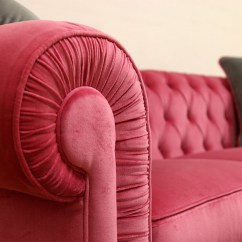 Pink Velvet Sofa Cover Kuka Review Chesterfield 3 Seater Price And Dimensions
