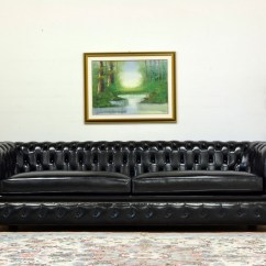 Chesterfield Style Fabric Sofa Costco Grey Corner With Vintage Brass-plated Studs