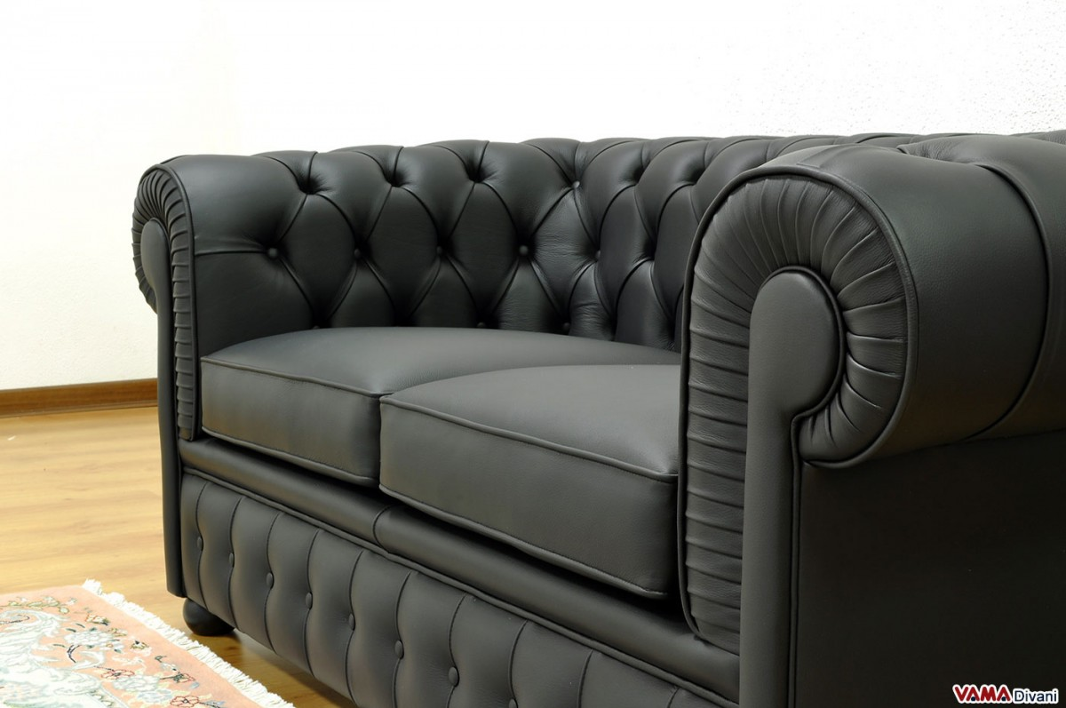 2 seater chesterfield sofa dimensions art van clearance leather price upholstery and