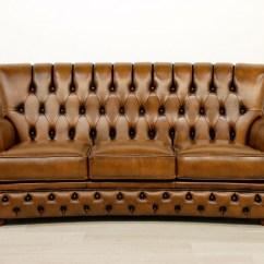 High Back Chesterfield Sofa Dump Dublin Oned Leather In The