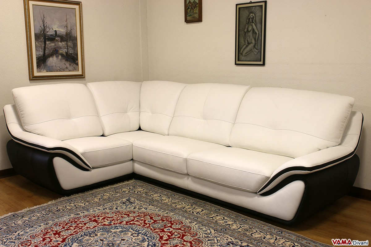 leather sofa black and white spectra home recliner contemporary large high back