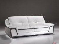 White Leather Contemporary Sofa T60 Ultra Modern White ...