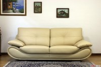 Contemporary white leather sofa | Price and dimensions