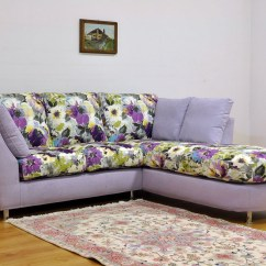 Purple Corner Sofa Bed Factory Birmingham Advert Small Fabric Logan Next Day