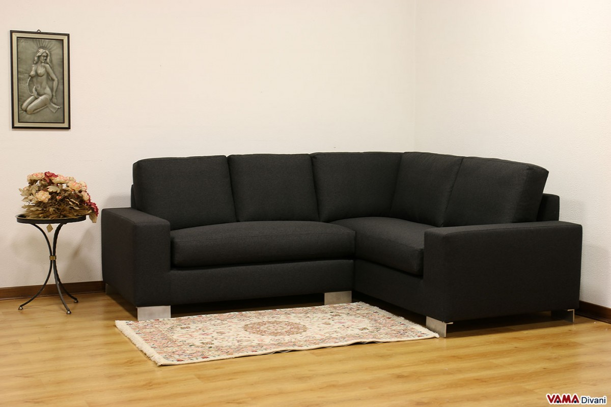 aria fabric modern sectional sofa set deep seated black grey corner direct