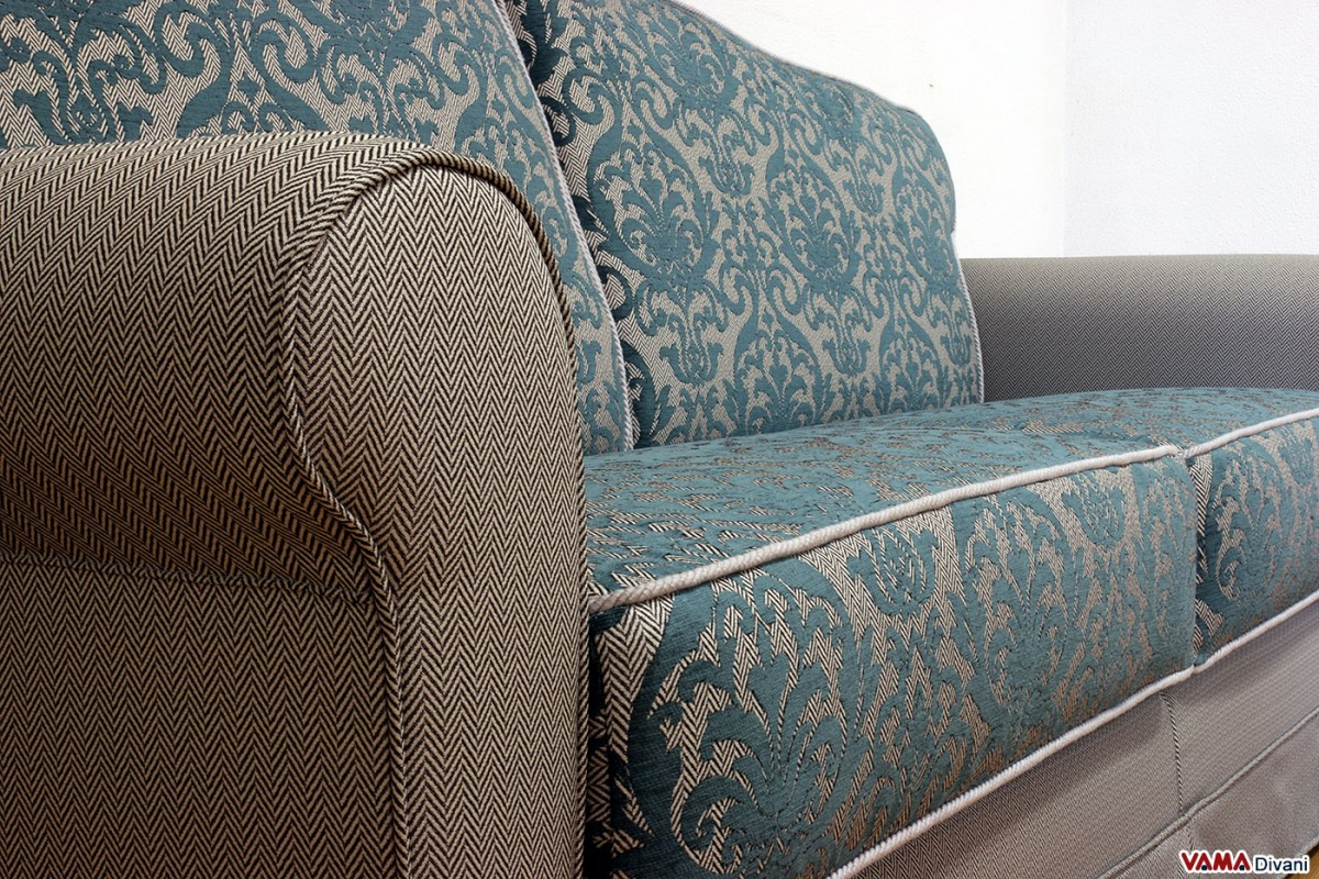 damask sofa bed paint ideas for living room with tan sofas classic fabric double
