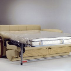 Small Double Leather Sofa Bed Lc2 Set With Wooden Finishing In Its Arms