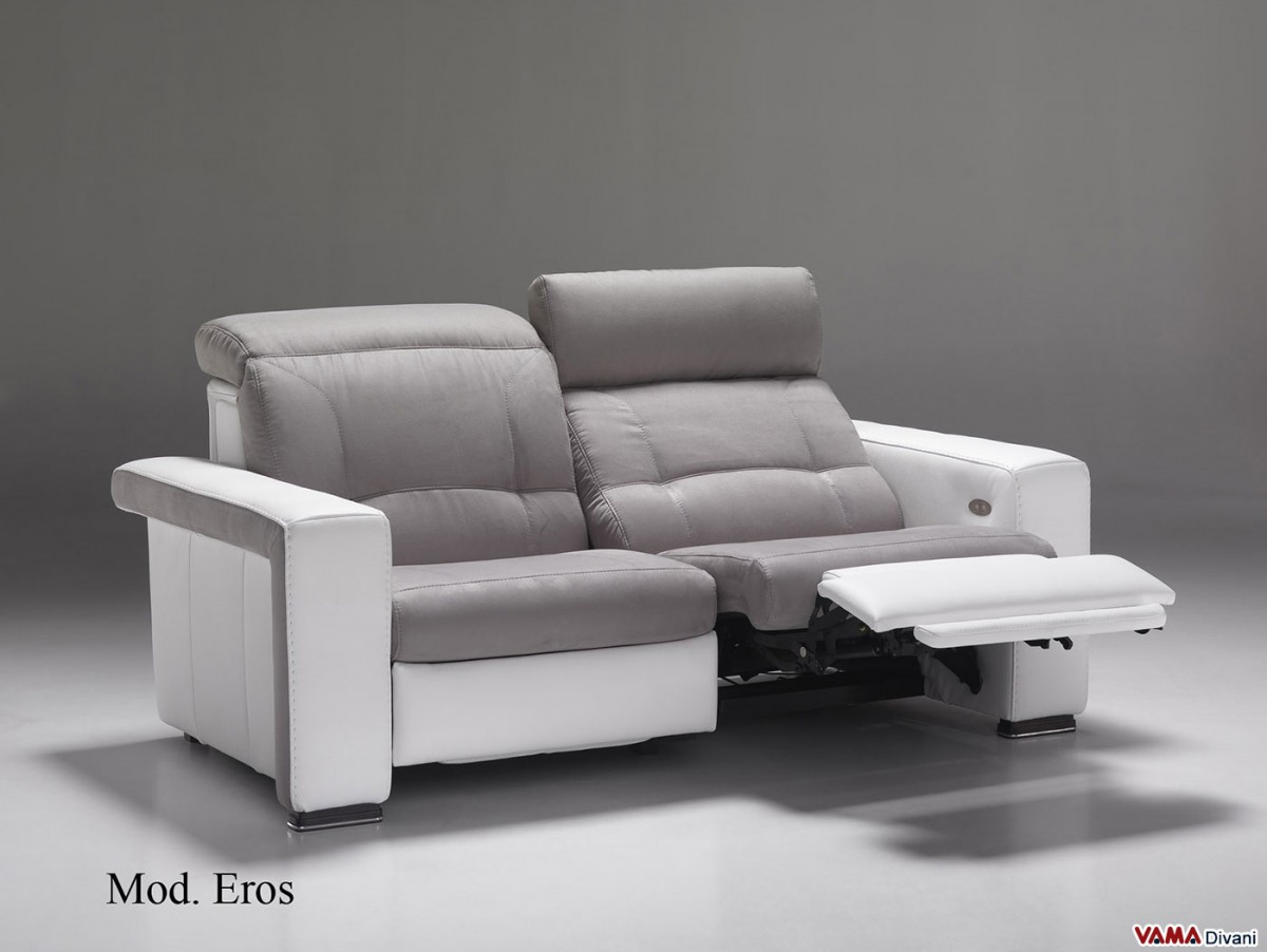grey modern armchairs chairs target reclining sofa with independent mechanism for your head and feet