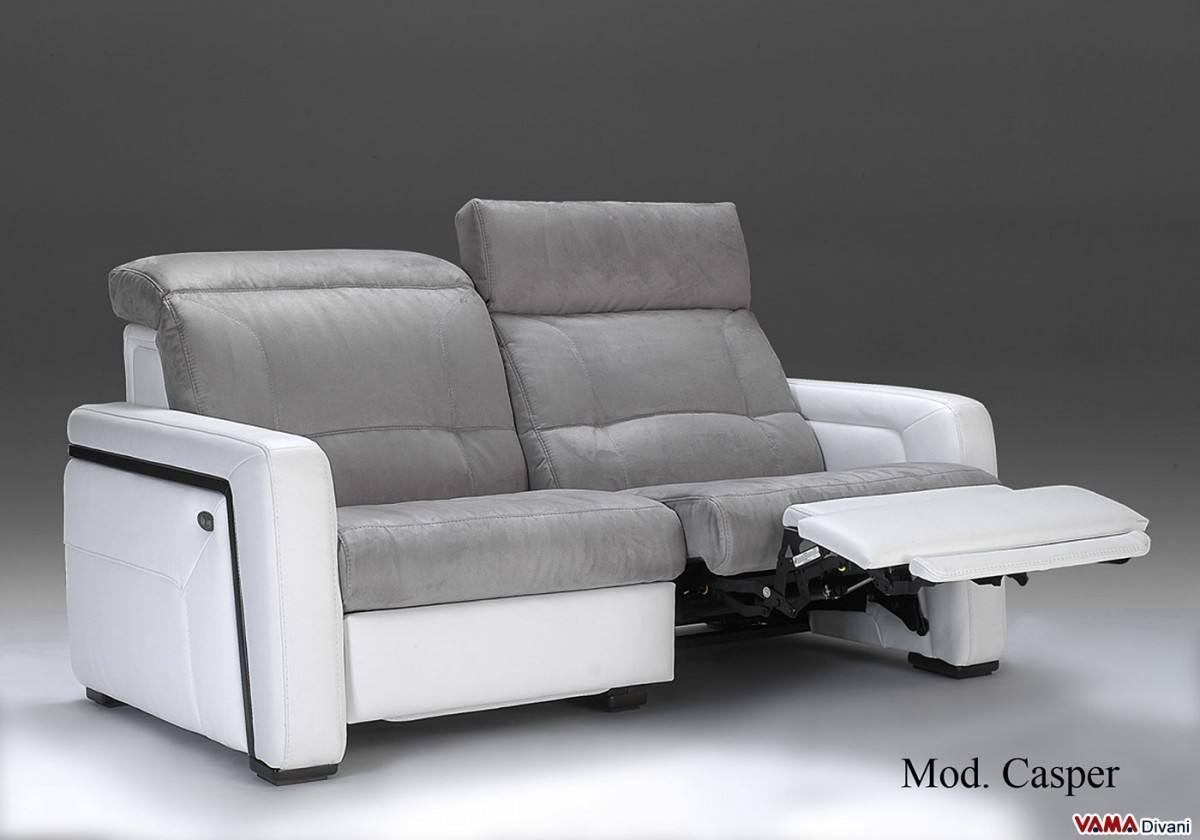 Electric Recliner Sofas Electric Recliner Sofa In Leather