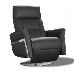 Unique Office Chair Bedroom Tufted Reclining Armchair In Black Leather With Manual Mechanism