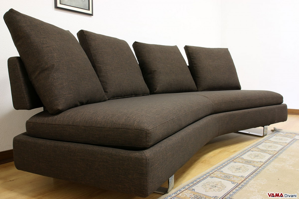 small sofa bed without arms ikea slipcover reviews contemporary half round fabric with removable cover