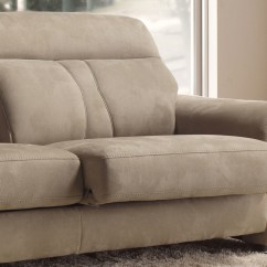 Leather Sofa With Fabric Seat Cushions Lazy Boy Keller Reviews Contemporary And Extendible Seats