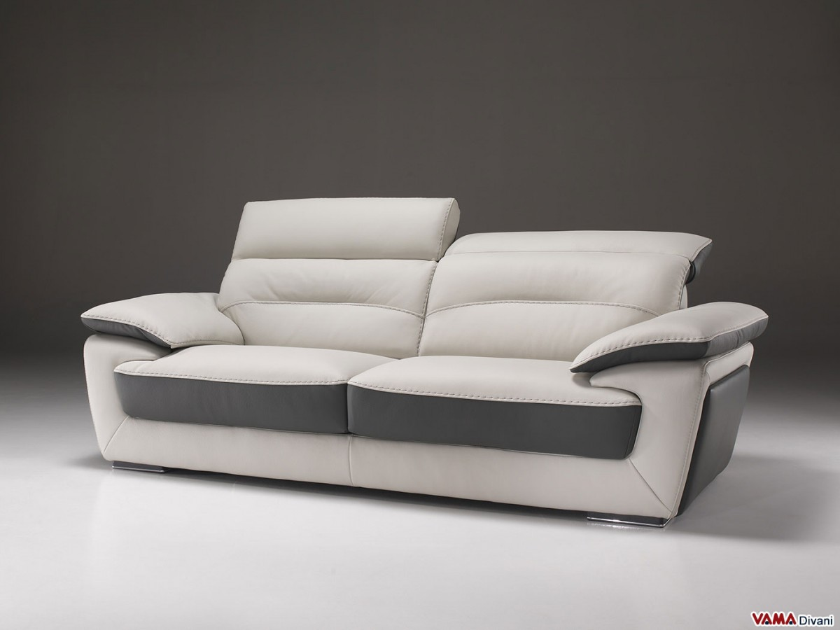 Grey And Cream Sofa