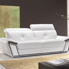 Sofa Headrest Cost Plus Sofas Athlone Contemporary Leather With Adjustable Headrests
