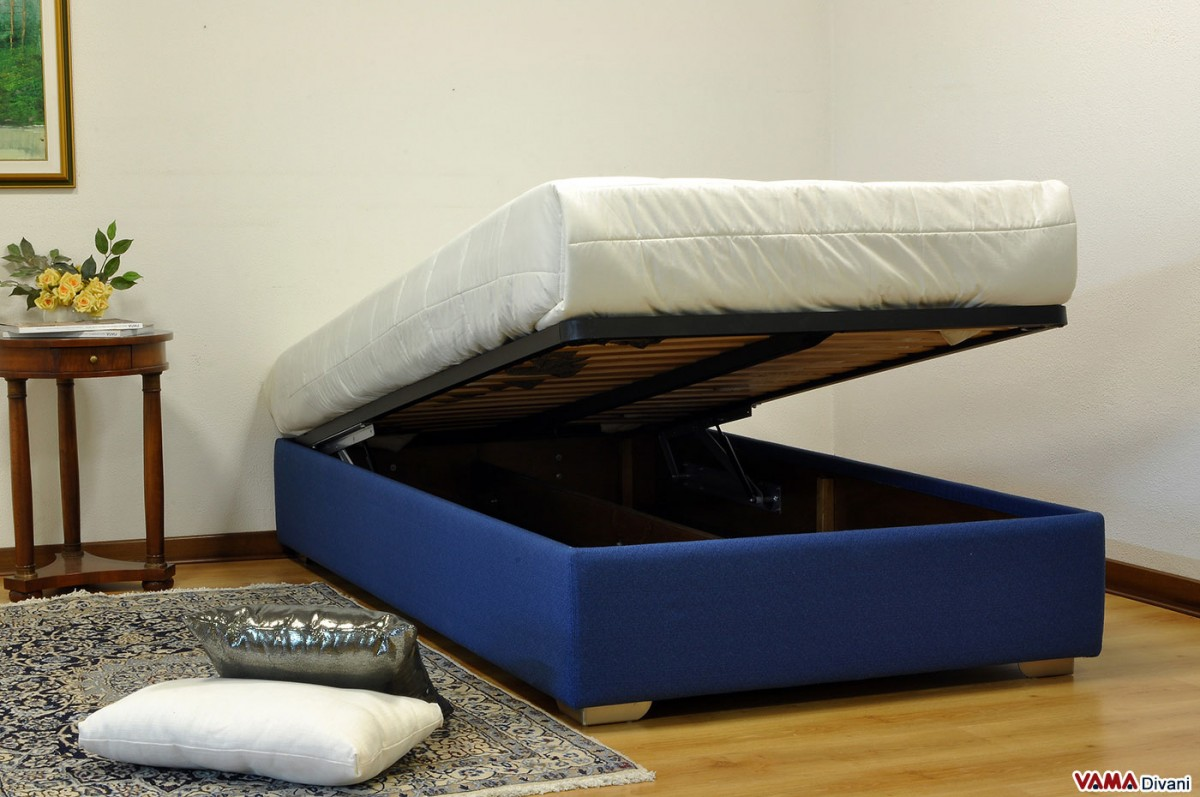 French Bed 140 cm  With storage box and without headboard
