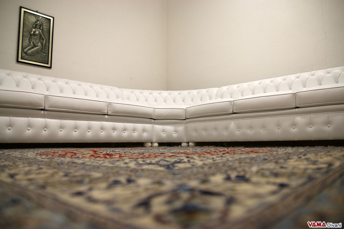 white leather chesterfield corner sofa queen sleeper mattress pad with round